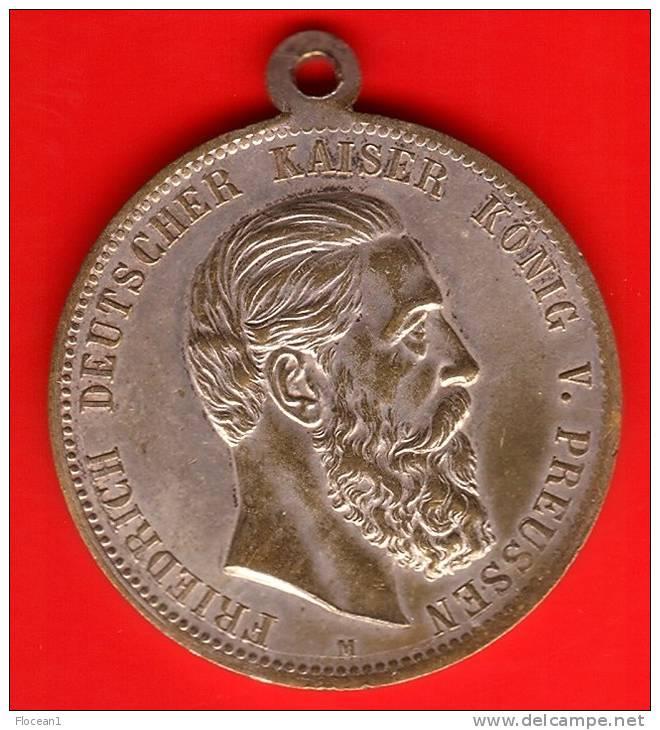 **** ALLEMAGNE PRUSSIE - GERMANY PRUSSIA - MEDAILLE - MEDAL FRIEDRICH 1831-1888 **** EN ACHAT IMMEDIAT !!! - Royaux/De Noblesse
