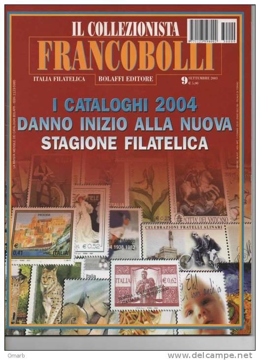 """Lib028 Rivista Mensile Filatelia  """"il Collezionista Francobolli""""   N.9 Settembre 2003, Bolaffi Editore - Riviste: Abbonamenti"""