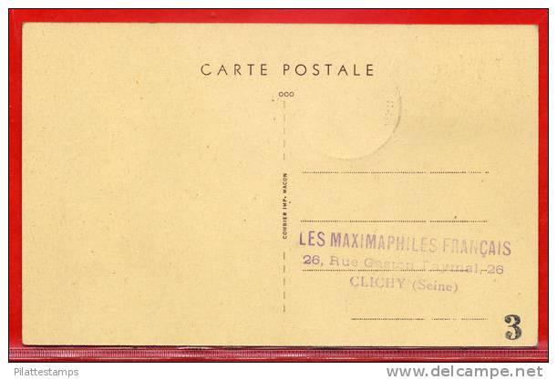 FRANCE CARTE MAXIMUM ABBAYE DE CAEN DU 22/12/1951 DE CAEN - Cartes-Maximum
