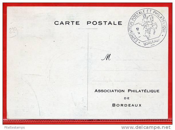 FRANCE CARTE MAXIMUM TROUPES COLONIALES DU 12/05/1951 DE BORDEAUX - Cartes-Maximum