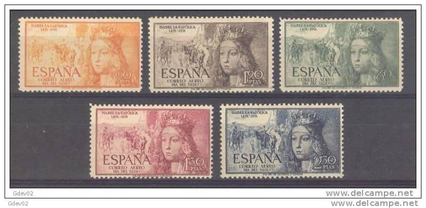 ES1097-L1704TA.Spain.E Spagne  ISABEL LA CATOLICA.Rendicion De Granada. 1952. (Ed 1097/1**) Sin Charnela LUJO - Aéreo