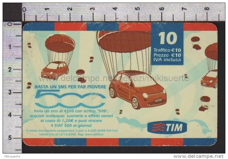 S2386 Ricarica TIM FIAT 500 CONCORSO Euro 10 Scad. OTT 2010 - Italia