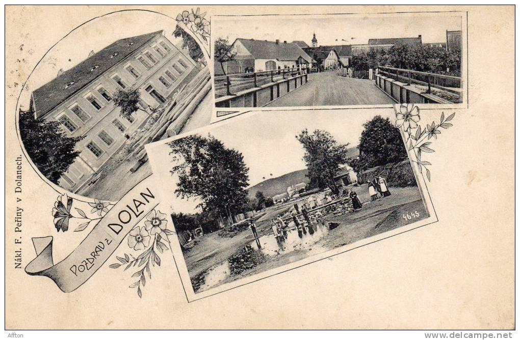 Pozdrav Z Dolan 1905 Dolany Dolanech - Tschechische Republik