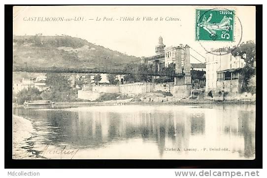 47 CASTELMORON SUR LOT / Le Pont Et Hôtel De Ville / - France