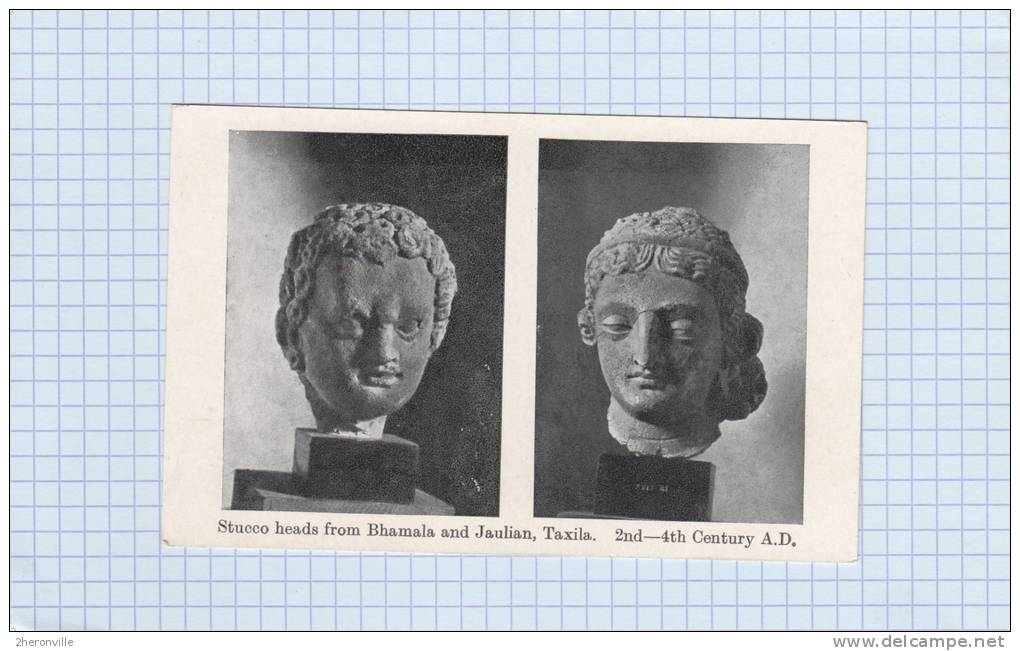 CPA - BHAMALA & JAULIAN , Taxila - Stucco Heads - 2nd / 4th Century A.D. - Archelogy - Art - India - Pakistan