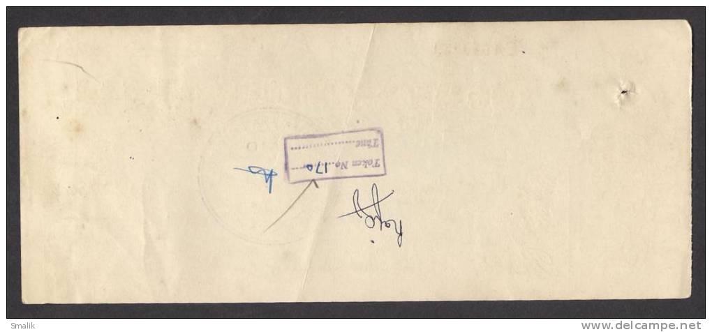 PAKISTAN Australasia Bank Ltd Cheque KARACHI 2-3-1964 - Bank & Insurance