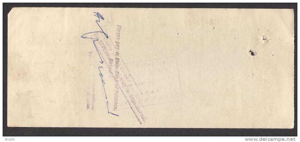 PAKISTAN Australasia Bank Ltd Cheque KARACHI 29-2-1964 - Bank & Insurance