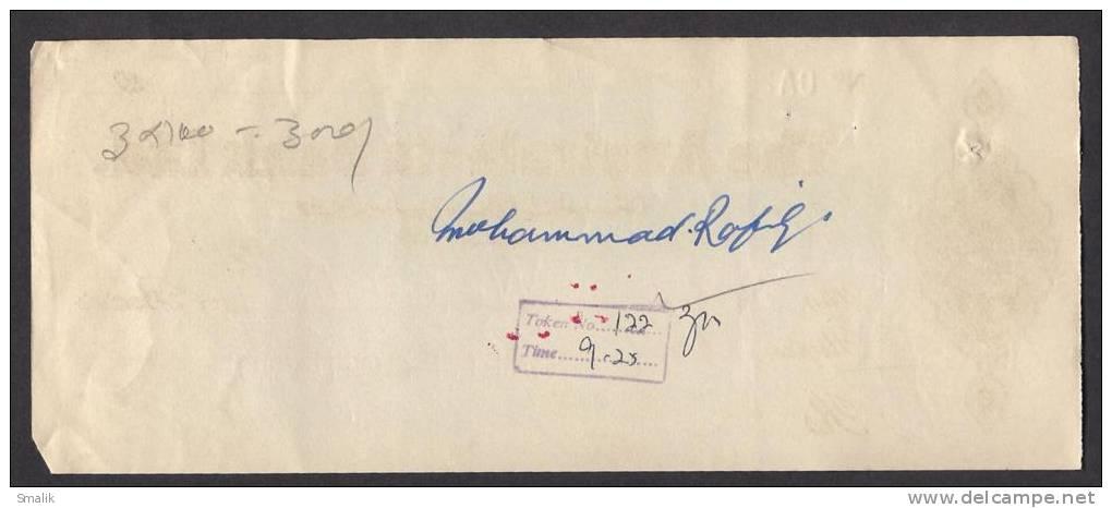 PAKISTAN Australasia Bank Ltd Cheque KARACHI City 30-3-1964 - Bank & Insurance