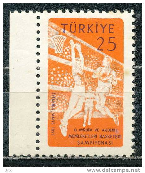 Turquie 1959, N° 1443, Championnat D'europe De Basket Ball, **/mnh - Baloncesto
