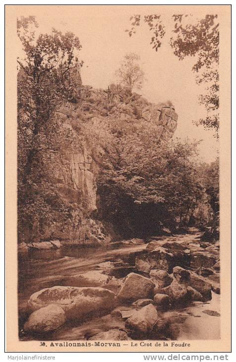 Dép. 89 - AVALLON - Avallonais-Morvan - Le Crot De La Foudre. Edit. H. Couron - Avallon. N° 30 - Avallon