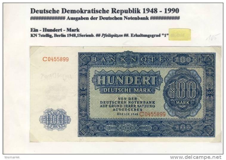 DDR - Deutsche Notenbank Von 1955  -- Hundert  Mark  (105) - 2 Deutsche Mark