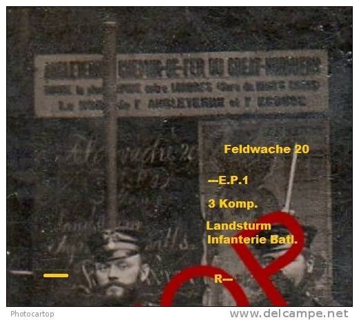 BAHNWACHE-CHEMIN De FER Du GREAT NORTHERN Vers L´ANGLETERRE-UNLOKALISIERT-NON SITUEE-PHOTOKARTE-Belgien-Militaria- - Non Classés
