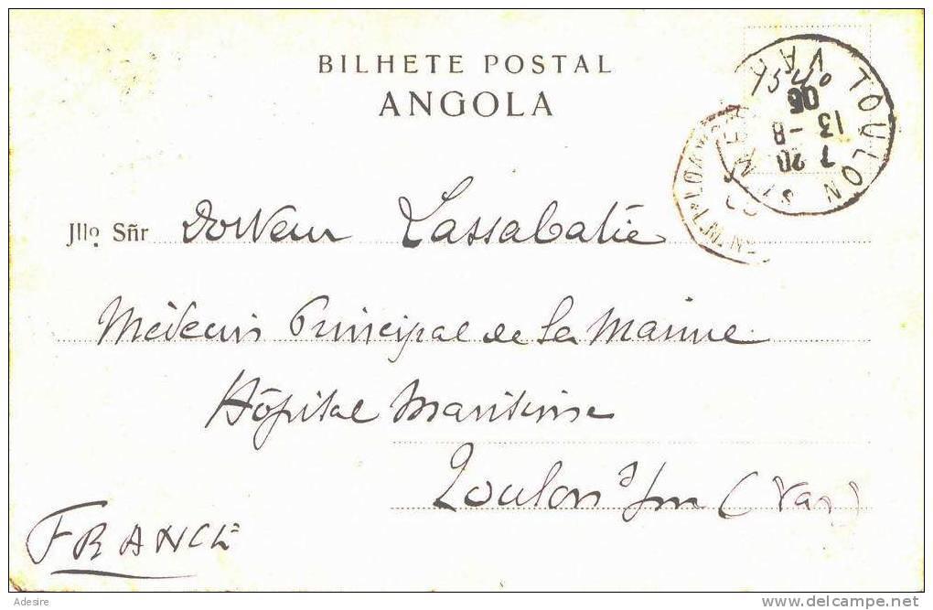 1905, Gabon, CATUMBELLA, Rua Neves Ferreira, Libreville (Bilhete Postal ANGOLA), Sehr Seltene Karte Gel.1905 - Gabun