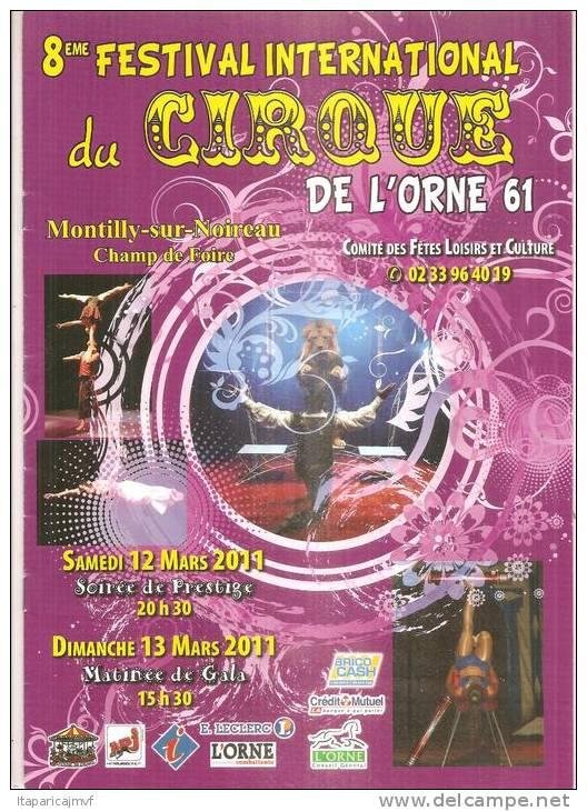 Programme 8 Em Festival Cirque De Montilly 2011 ( Orne ) - Livres, BD, Revues