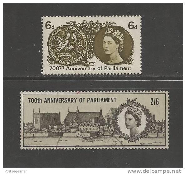 UK 1965 Used Stamp(s) Simon De Montforts Nrs. 386-387 - 1952-.... (Elizabeth II)