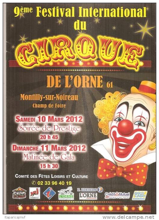 Programme 9 Em Festival Cirque De Montilly 2012  ( Orne ) - Livres, BD, Revues