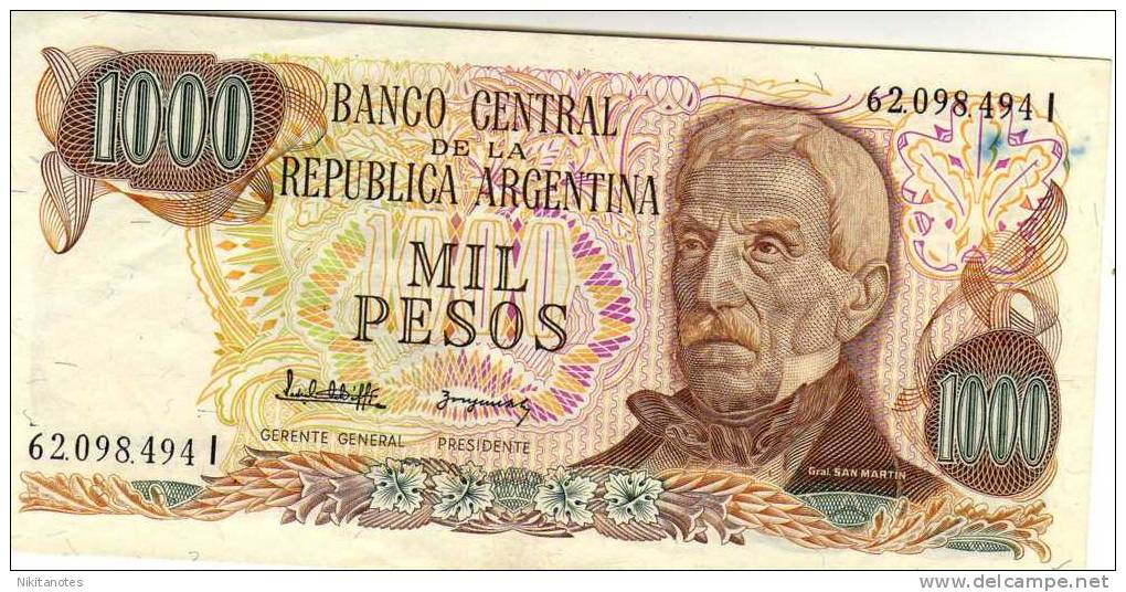 1000 Pesos ARGENTINA SEE SCAN VF - Argentine