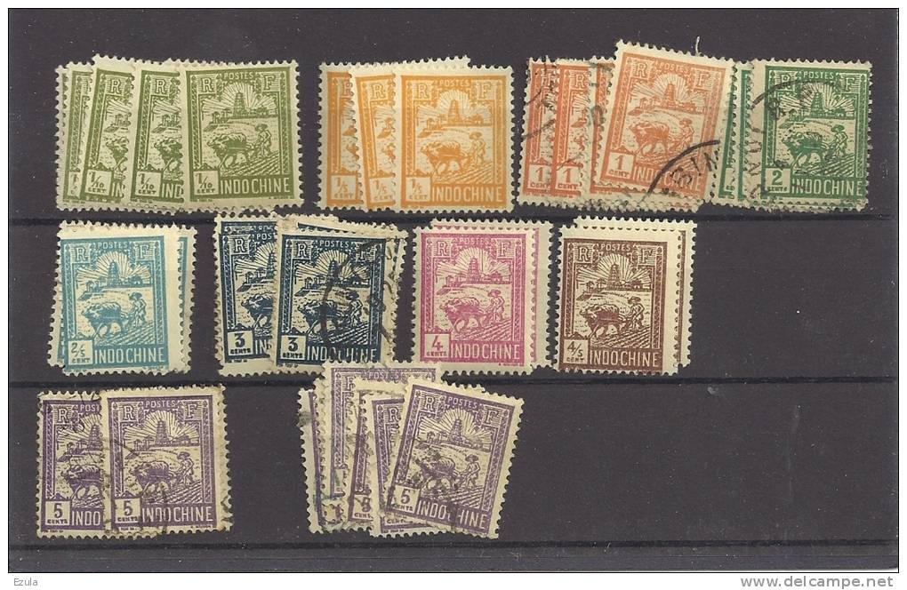 Timbres Indochine Pour étude - Indochine (1889-1945)