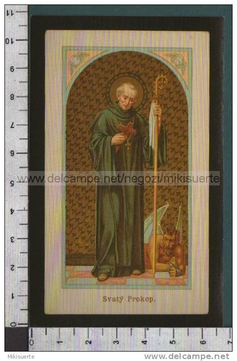 Xsb98 SAN PROCOPIO ABATE BRASILIANO BOEMIA Num. 260 ALBUM DEI SANTINI Adesivo Riproduzione - Religione & Esoterismo