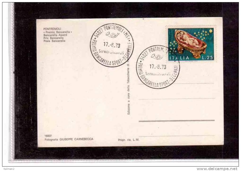 TEM71     -    DECENNALE PREMIO BANCARELLA SPORT   /   PONTREMOLI  17.6.1973 - Francobolli