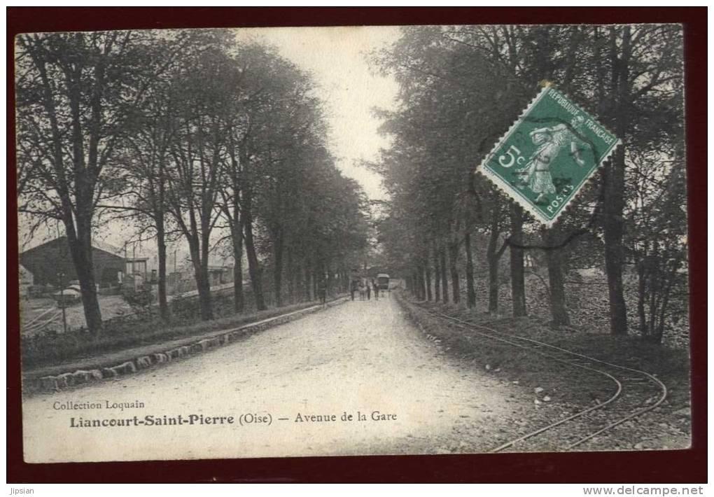 Cpa Du 60  Liancourt - Saint - Pierre   Avenue De La Gare   LOK13 - Liancourt