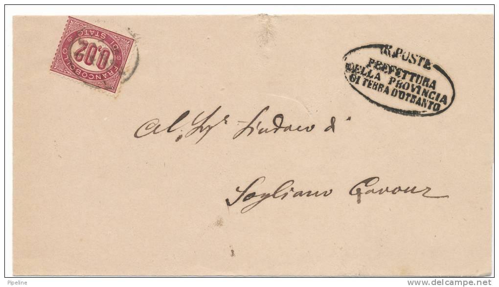 Italy Postage Due 18-2-1876 - 1861-78 Vittorio Emanuele II