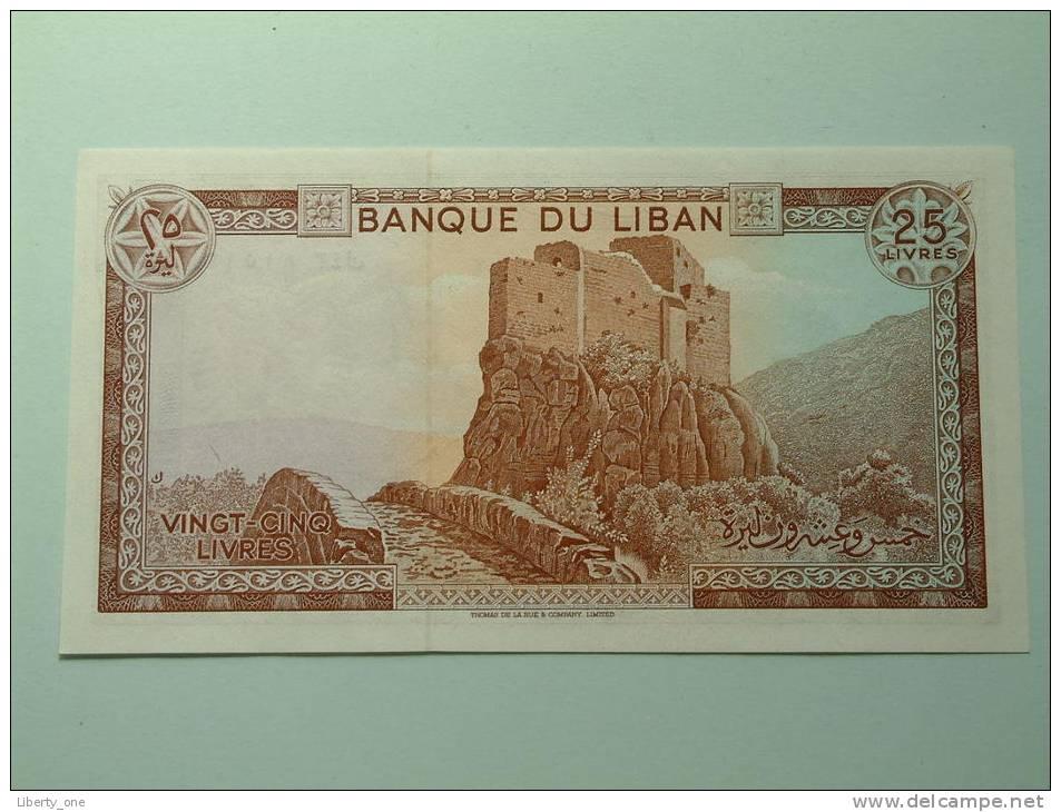 VINGT CINQ LIVRES / UNC ( For Grade, Please See Photo ) ! - Liban