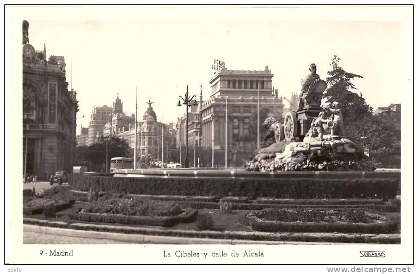 MADRID  La Cibeles Et Calle Alcala - Unused - Madrid