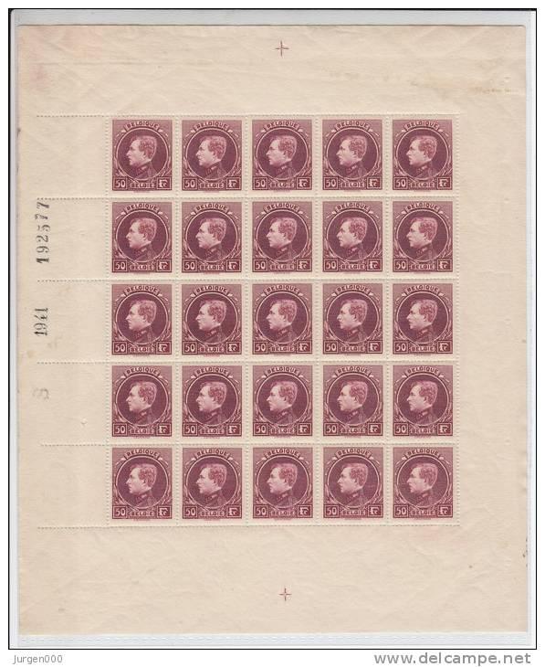 Nr 291C (25) ** In Volledig Vel (LX) - 1929-1941 Grand Montenez