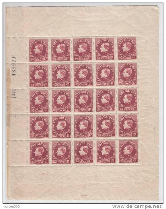 Nr 292B (25) ** In Volledig Vel (LX) - 1929-1941 Groot Montenez