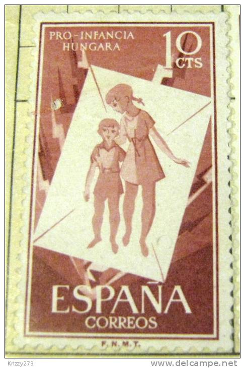 Spain 1956 Hungarian Childrens Relief Refugees 10c - Mint Hinged - 1931-Aujourd'hui: II. République - ....Juan Carlos I