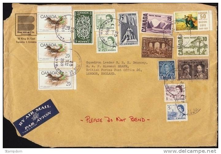 CANADA 1969 COVER Front Only With Mixed Period Stamps Used For Postage [J537] - Cartas