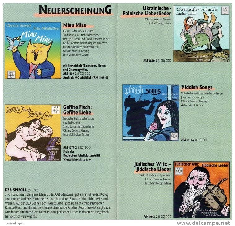 Carton Double-volets Illustré Par Tomi Ungerer 1994 - D 09 - Vecchi Documenti