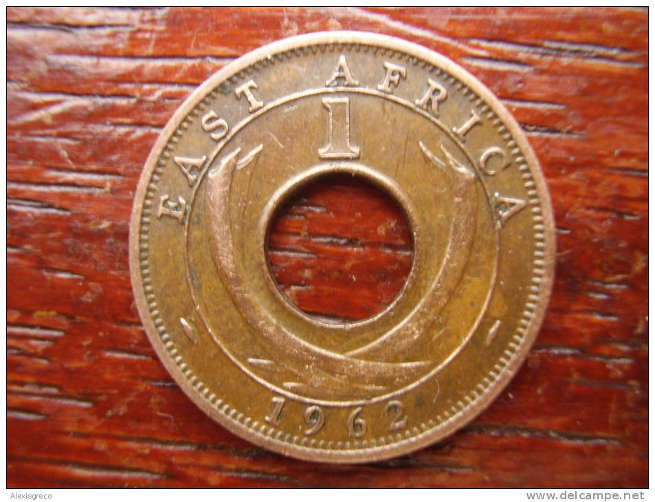 BRITISH EAST AFRICA USED ONE CENT COIN BRONZE Of 1962 H. - Africa Orientale E Protettorato D'Uganda