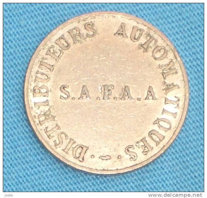 S.A.F.A.A. - DISTRIBUTEURS AUTOMATIQUES ( France Token ) Jeton Gettone - Tokens & Medals