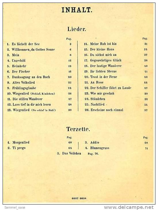 Ca.1890  Notenheft Curschmann Album Sammlung Der Beliebtesten Lieder Und Terzette Mit Pianofortebegleitung - Varia