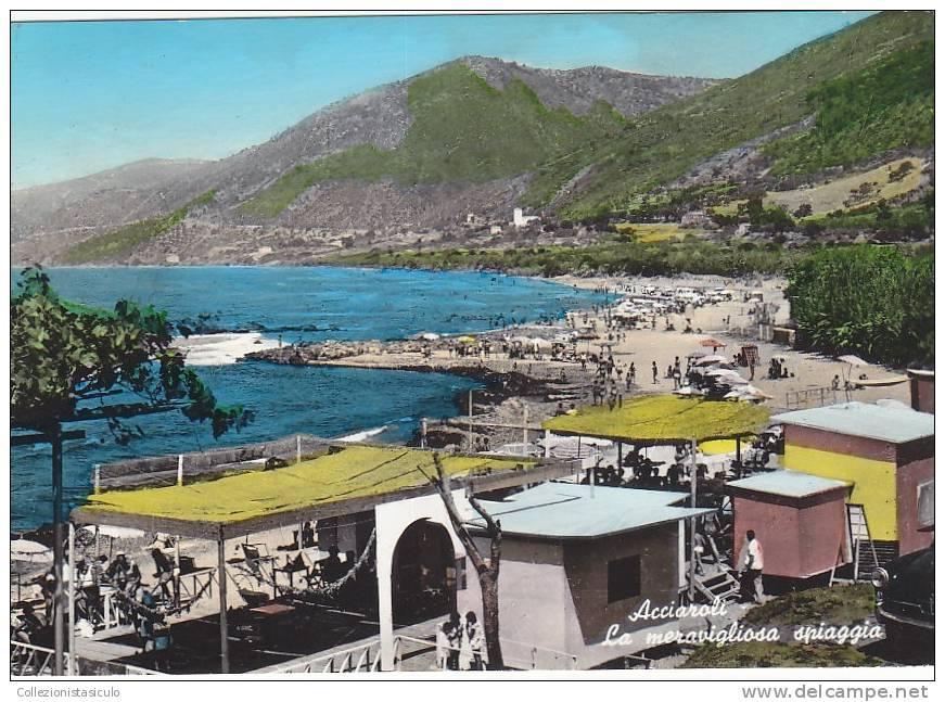 D1209- Acciaroli - La Meravigliosa Spiaggia - Salerno -  F.g. Viaggiata - Salerno