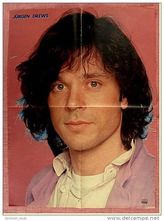 Poster  Jürgen Drews  -  Ca. 41 X 56 Cm  -  Von Pop Rocky Ca. 1982 - Plakate & Poster