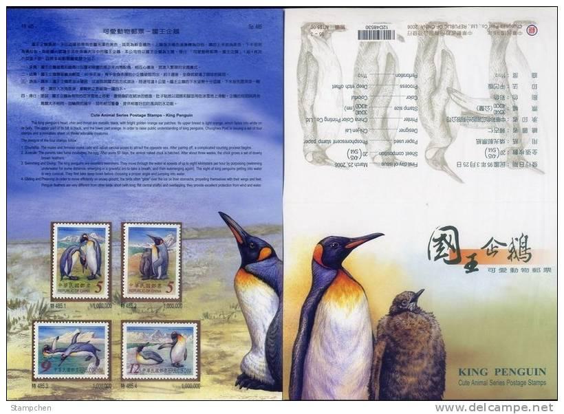 Folder 2006 Cute Animal - King Penguin Stamps Bird Fauna Iceberg Ocean Antarctic - Antarctische Fauna