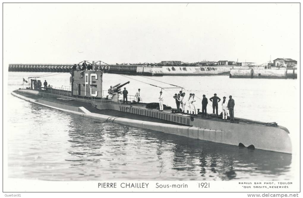 (CPA SOUS-MARINS )  PIERRE CHAILLEY  /  Sous-Marin  -  1921 - - Submarines