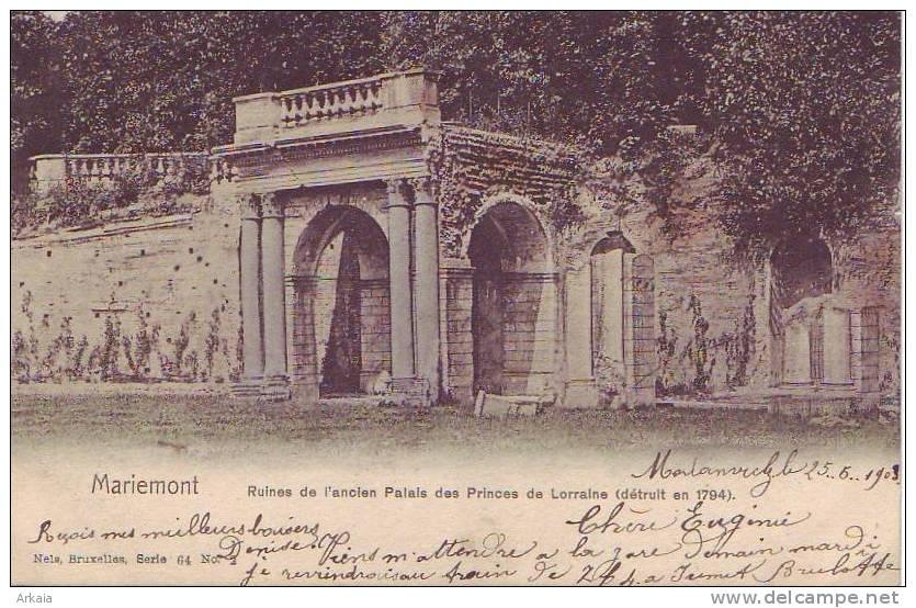MARIEMONT = Ruines De L'ancien Palais Des Princes De Lorraine - Carte Couleur - België
