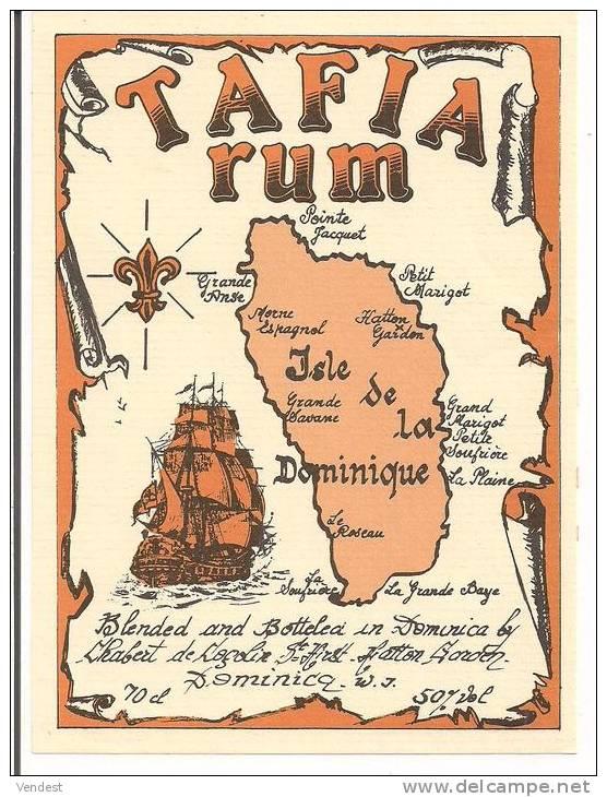 Etiquette Tafia Rum Chabert De Cogolin - Isle De La DOMINIQUE - 70 Cl 50% - - Rhum