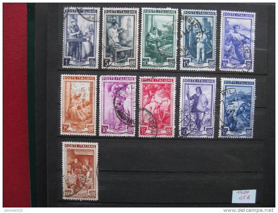 Timbres Italie : Métiers 1950 - 6. 1946-.. Republic