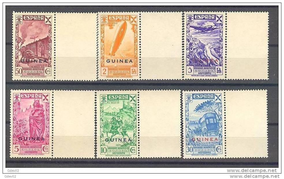 GUIBE12-L2556TTOT.Guinee. GUI NEA    ESPAÑOLA .BENEFICENCIA..HISTORIA DEL CORREO.1943.(Ed 12/7**)) Sin Charnela.LUJO - Transporte