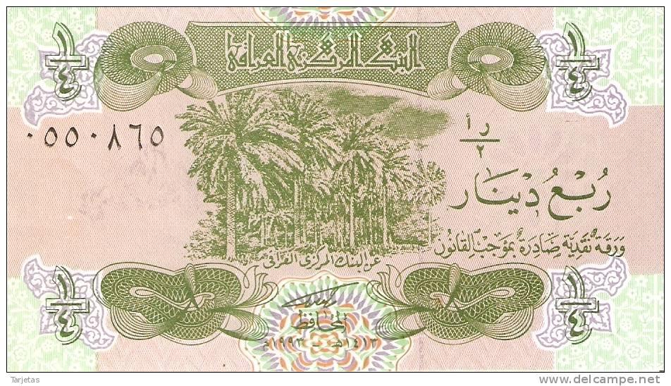 BILLETE DE IRAQ DE 1/4 DINAR CALIDAD EBC+ (BANKNOTE) - Iraq