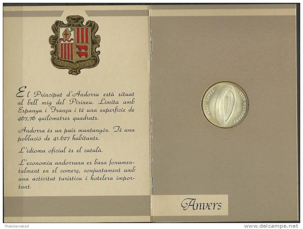 ANDORRA- 1987.- XXIV OLIMPIADA SEUL 1988  MONEDA DE PLATA  DEL SERVEI D´EMISSIONS. - Andorra