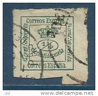 ESPAGNE , SPAIN , 1/4 C , Couronne Royale , 1876 - 1910 , N° Y&T 172 - Gebraucht