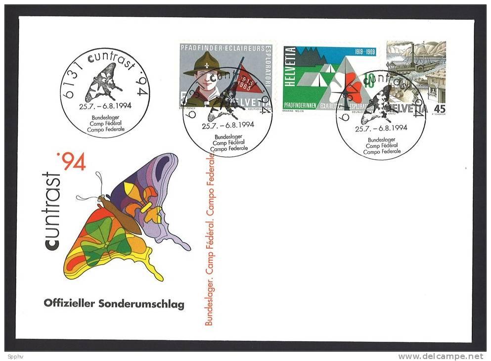 Pfadfinder, Scout, Eclaireur, Schweiz. Bundeslager CUNTRAST´94 - Pfadfinder-Bewegung