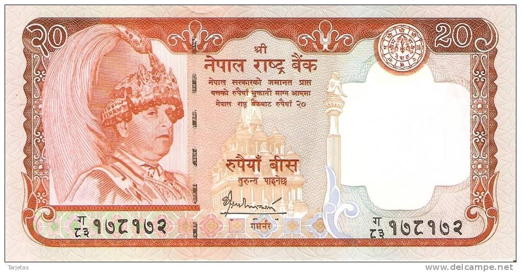 BILLETE DE NEPAL DE 20 RUPEES NUEVO- SIN CIRCULAR   (BANKNOTE) - Nepal
