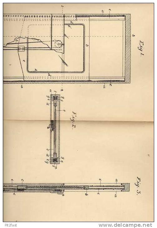 Original Patentschrift - W. Davis In Bridlington , 1906 , Fenster , Schiebefenster !!! - Architecture